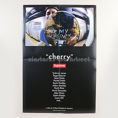 """Supreme SS14 """"Cherry"""" DVD's Official Exclusive box logo Poster 27""""x40"""""""