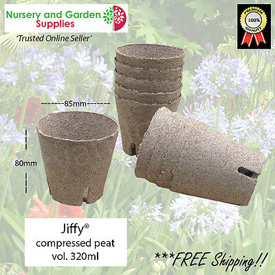 Jiffy® Pot 80mm various qtys - propagation seed raising plant cutting nursery