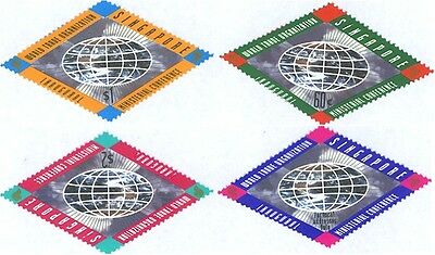 Diamond Shaped World Trade Organization Stamps Of Singapore # 770-773 MNH