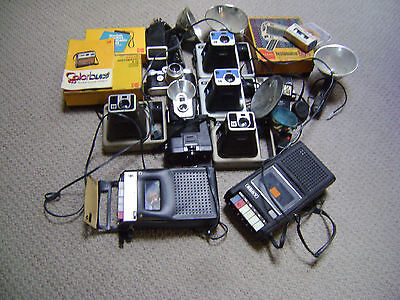 Lots of Vintage Cameras*2 Older Cassette Players~Most not Working~Plus Extras~!