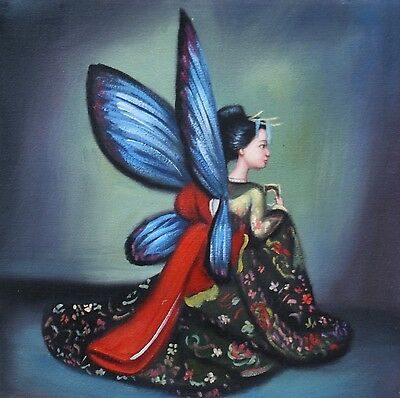 GEISHA Öl Leinwand Ölgemälde Gemälde oil on canvas painting surrealism 9