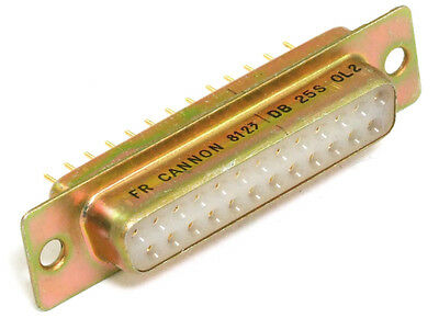 Cannon DB25S-0L2 D-Sub 25-Pin Female Socket Connector strip Gold