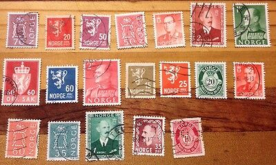 Assorted Stamps from Norway Norge