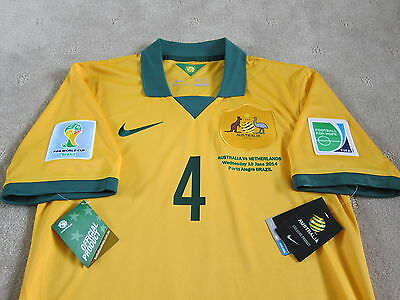 2014 AUSTRALIA CAHILL Authentic Official Soccer Jersey Football shirt [S] RARE