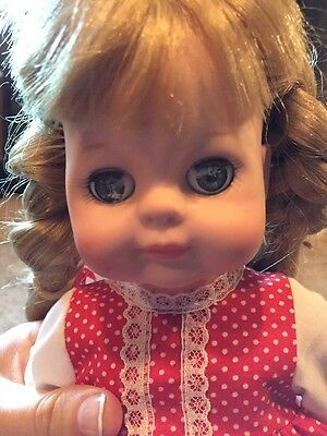 Vogue Doll w/ Dress 1960 Strawberry Red As Is Eyes Open and Close Flaw