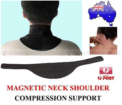 Neoprene Magnetic Neck & Shoulder Compression Support Band Strap-Pain Relief-New