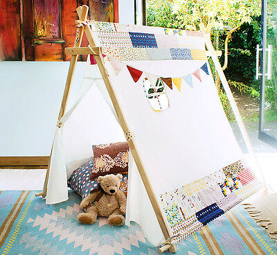 New Children's Canvas A Frame Play Tent / Teepee / Tipi / Wigwam / Den / House