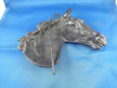 Horse Head Tray Dish Coin Ring Jewellry Metal Copper Marked Sp Western Theme