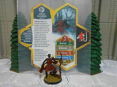 Heroscape Custom Aswadi Kagumede Double Sided Card & Figure w/ Sleeve Aquilla