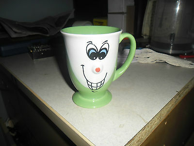 Green White Face Mug 3D Nose Evil Sinister