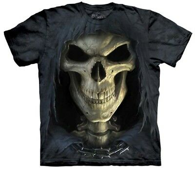 The Mountain Big Face Death Reaper Skeleton Skull Grim T Tee Shirt S 5Xl