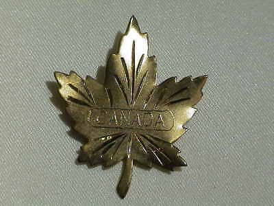 Canadian Sterling Silver Maple Leaf Pin 14k Gold Plated