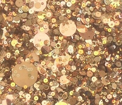 Gold Metallic Sequins Mixed Size & Shape 80G 3000+ Pack - Sewing Craft - Sc101