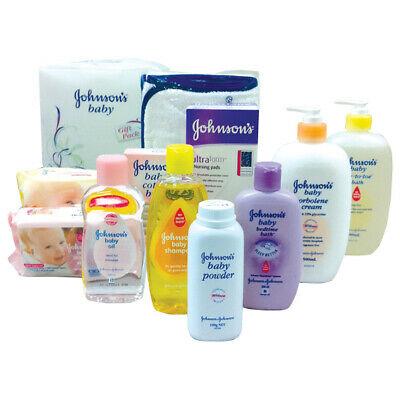 Johnson and Johnson Baby Shower Gift Pack and Teddy Bear