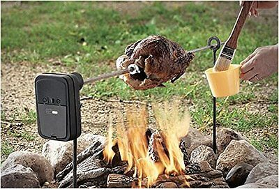 Camping Spit Rod Rotisserie Portable Cook Battery Operate 1-gear Reduction Motor