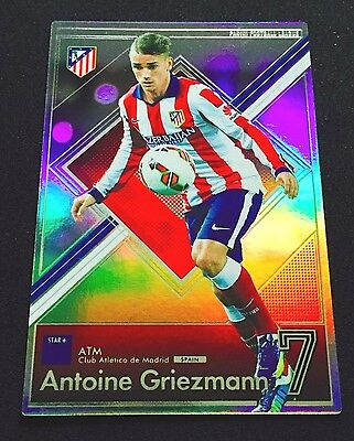 2015 Panini Football League PFL 10 Antoine Griezmann Star Refractor card