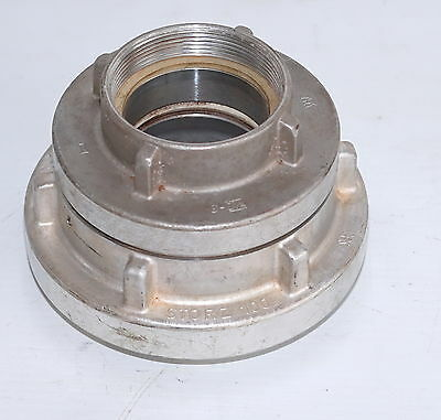 Storz 100mm to 89mm Stoz to BSP 2-Part Coupling for fire fighting
