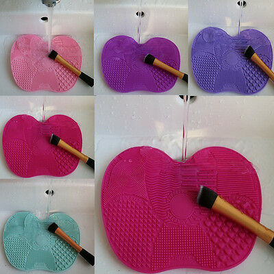 1 Pc MiniSize Cleaning MakeUp Washing Brush Silica Cleaning Mat Pad with Sucker