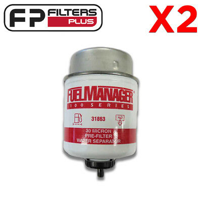 31863 - Fuel Manager Filter Twin Pack - 30 Micron - Protect Your Injectors