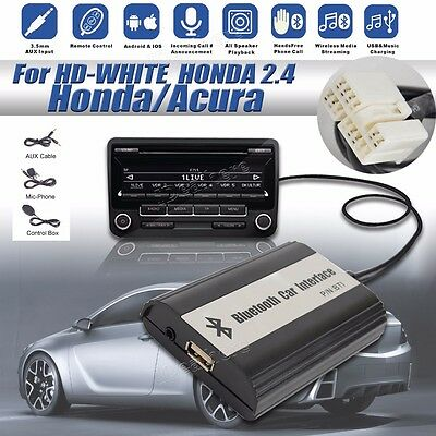 1set Car Bluetooth Kits Hands-free Stereo AUX Adapter Interface for Honda 2.4 #