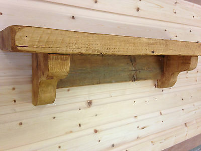 Rustic Reclaimed Style Solid Wood Fireplace Mantle,Floating Shelf Handmade