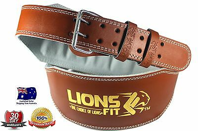 """Lions Fit 6""""wide Artificial Leather Weightlifting Bodybuilding Gym Training Belt"""