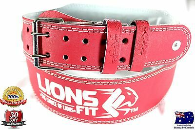 "4""wide Ladies Pink Split Leather Backsupport Weightlifting Bodybuilding Gym Belt"