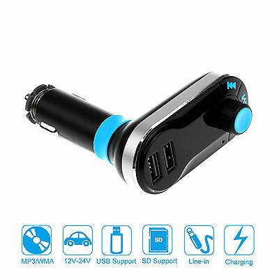 Car MP3 Player FM Wireless Transmitter Dual USB SD LCD Car Charger Kit