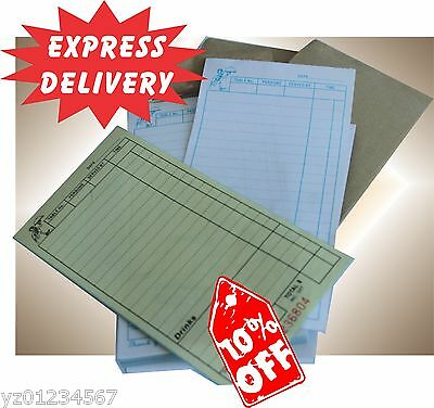 100 LARGE Restaurant Docket Books.Carbonless Duplicate Express Delivery Aus Wide