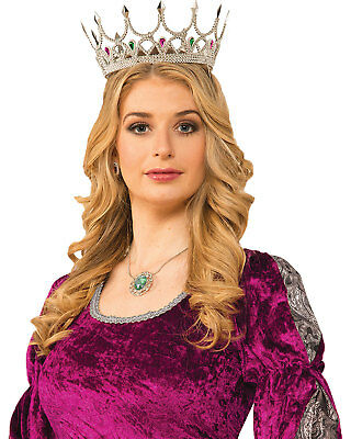 Morris Costumes Royal Queen Crown Silver. FM76047
