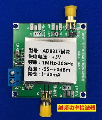 AD8317 (1-10000MHz) RF Power Meter Logarithmic Detector Controller for Amplifier