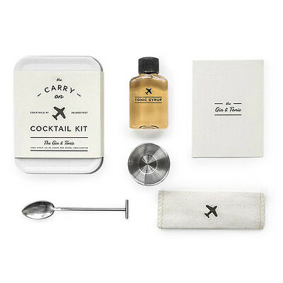 The Carry on Cocktail Kit Wanderlust Travel Gift Idea Cocktail Set Gin and Tonic