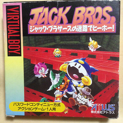 Nintendo 3D Jack Bros Virtual Boy Japanese Import Version Action Atlus VB F/S