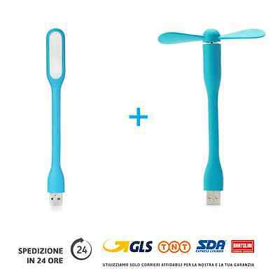Luce a Led Usb + Ventilatore Usb flessibile per PC e Notebook