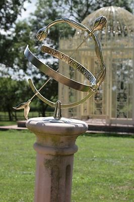 Polished Brass Amulet Solid Brass Tulip Armillary