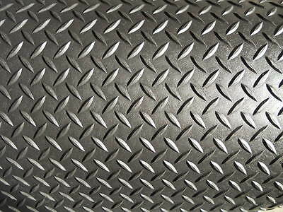 "1/8"" Diamond Plate Durable Poly/Rubber Mat/Flooring"
