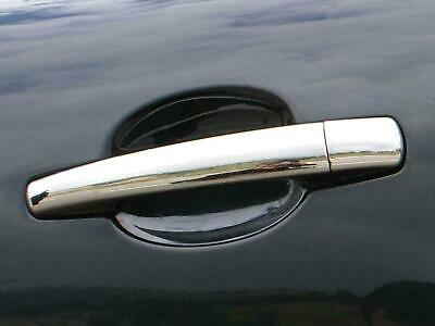 Chrome Door Handle Covers Trim Stainless Steel 4 Handles for Peugeot 407 (04-10)