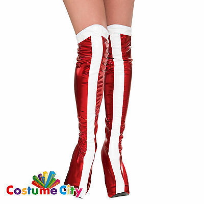 Adults Womens Official DC Wonder Woman Boot Tops Fancy Dress Costume Accessory
