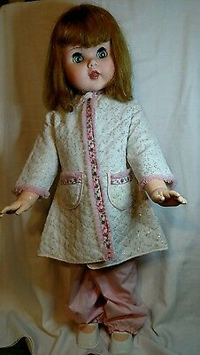 "TOODLES DOLL 30"" AMERICAN DOLL TOY CORP 1960 Follow Me Eyes Walker Original Nice"