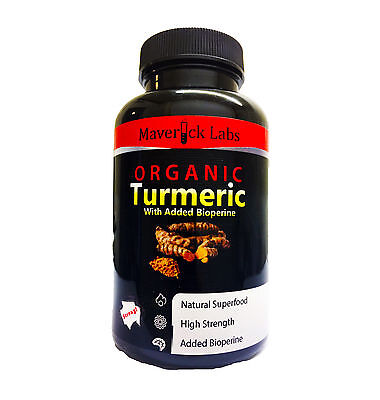 Organic Turmeric (Curcumin) With Bioperine (For Better Absorption) - 90 Capsules