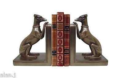 Whippet Dog Bookends - Bronze - Art Deco - New