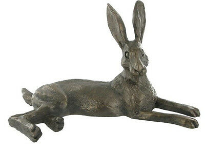 Bluebell Hare Cold Cast Bronze Sculpture by Harriet Glen New Boxed