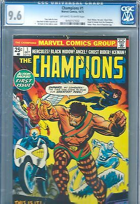 THE CHAMPIONS 1 Marvel 1975 CGC GRADE 9.6 SLABBED PREMIER ISSUE