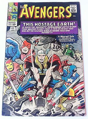 AVENGERS 12 Marvel Silver Age 1965 This Hostage Earth Vf+