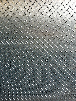 "1/4"" Aluminum Diamond Tread Plate 6061 T6 - 12"" x 12"""