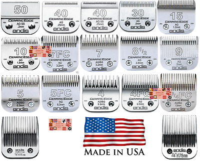 Genuine ANDIS CERAMIC EDGE Blade*Fit Most Oster,Wahl,Laube Clippers*Pet Grooming