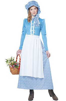 Brand New Colonial Pioneer Woman Adult Costume