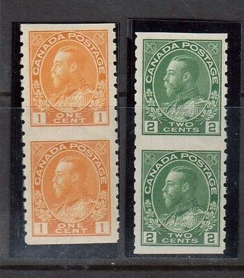 Canada #126a #128a VF/NH Imperf Pair Duo