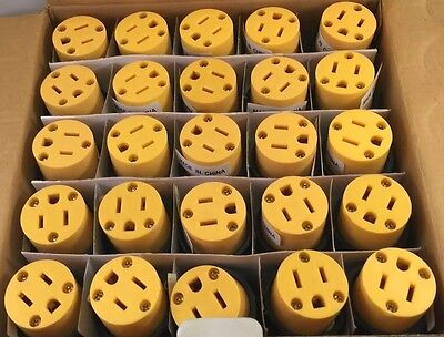 Lot of 25 Heavy Duty Female Replacement Electrical Plug 3 Prong 15A 110V
