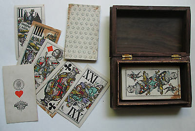 1876 Antique Tarot Bismarck Piatnik 53/54 VERY RARE old German Funfzig tax-stamp